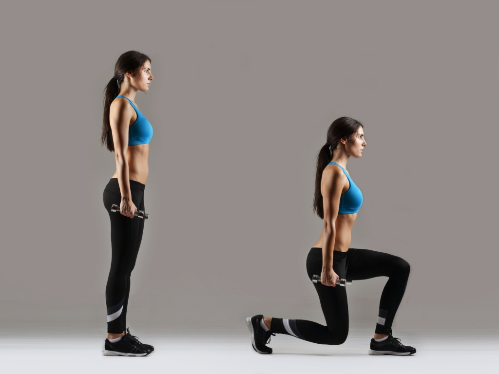 Girl doing lunges