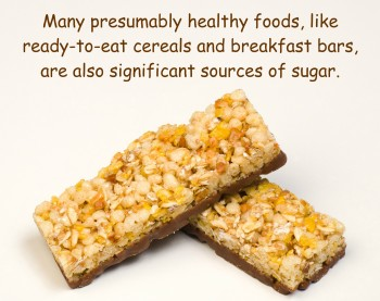 Cereal bars are sources of sugar