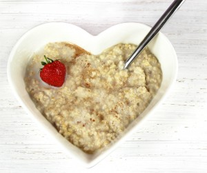 Bowl of oatmeal breakfast